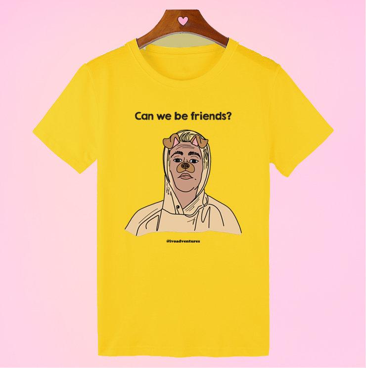 Justin - Friends - Dog T-shirt - Yellow