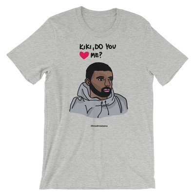 Drake - Kiki - Gray Tshirt - Ivo
