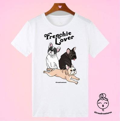 Frenchie Lover - IVO - White Tshirt