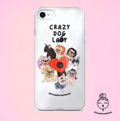 Crazy Dog Lady - IVO - iPhone Case
