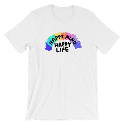 Happy Mind Happy Life - Ivo Adventures - Rainbow Tshirt