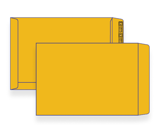 22560 - C5 Gold Craft Plain Face Peel & Seal Pocket