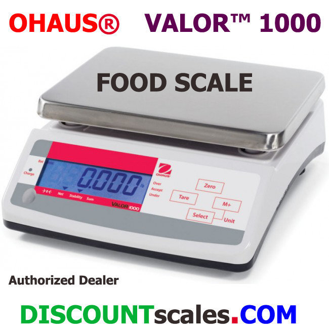 Ohaus® V11P30T Valor™ 1000 Food Scale  (66 lb. x 0.01 lb.)