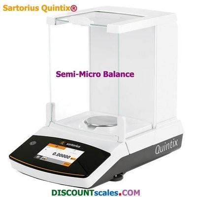 Sartorius® QUINTIX125D-1S Analytical Balance  (60g. x 0.01mg. + 120g. x 0.1mg.)