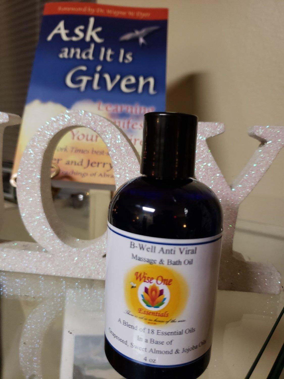 B-Well Anti/ Vir Massage Oil Blend