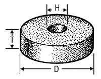 Type D1A8 Tools (Diamond Throughout) - Vitreous Metal Bond 00016