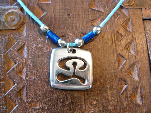 Dog tag, Indalo ~ square cut-out