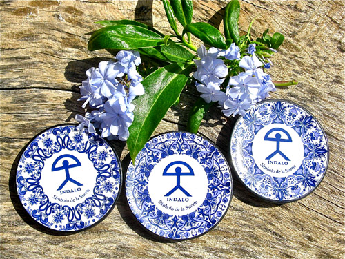 Spanish plate ~ Indalo, blue and white