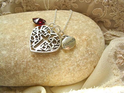 Friendship necklace ~ 3-part, silver
