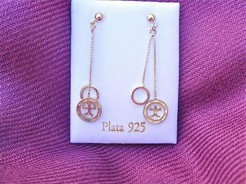 Indalo earrings ~ 2-chain silver
