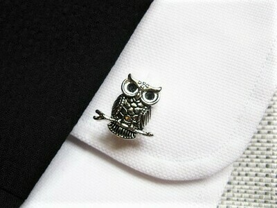 Guardian owl cufflinks said to ward off misfortune