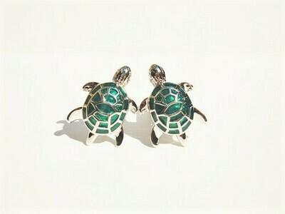 Lucky turtle cufflinks ~ green