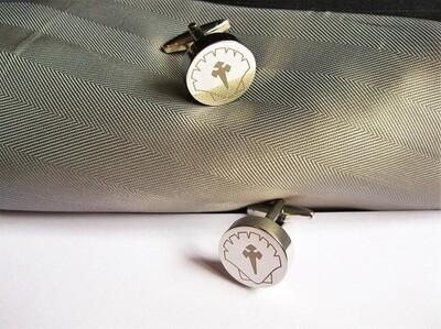Safe Jewellery - Travellers Cross cufflinks ~ Keep Safe!