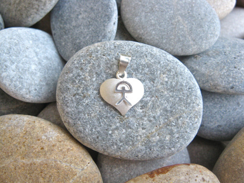 Indalo heart pendant, silver