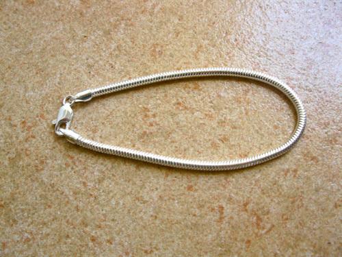 Charm BRACELET - 925 sterling silver snake chain