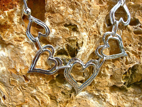 Quintet heart necklace