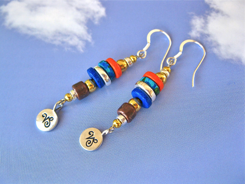 Life Path Zodiac earrings ~ maya