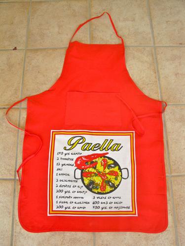 Apron / pinny ~ paella, red