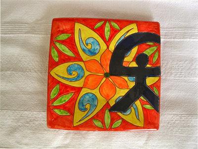 Spanish plate ~ Indalo spring, square