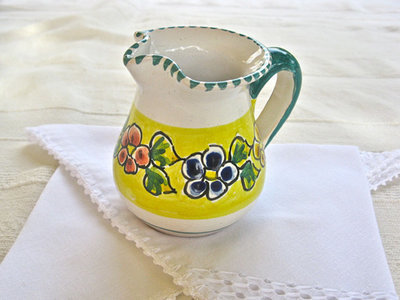 Talavera pottery jug ~ garland, small