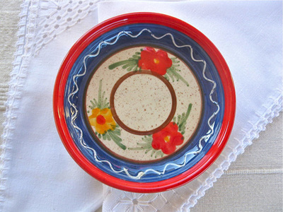 Spanish ceramic bowl ~ flor
