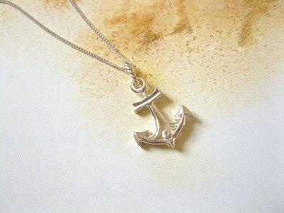 Anchor necklace, 925 silver