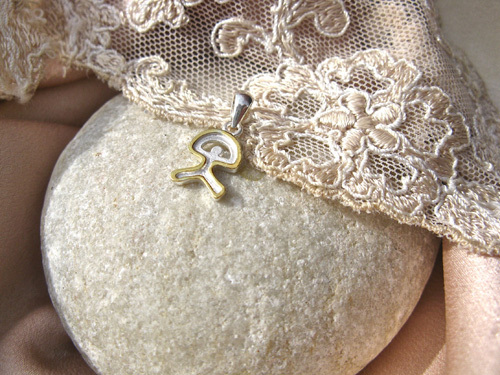 Indalo  pendant ~ bicoloured, silver