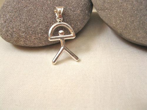 Indalo pendant ~ classic, silver, 27mm
