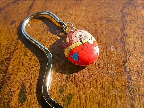 Lucky charm stone bookmark ~ Joy, squiggly