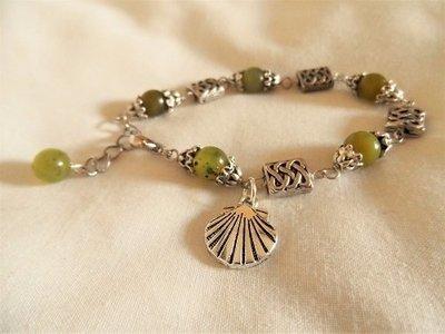 Santiago de Compostela travel bracelet ~ jade