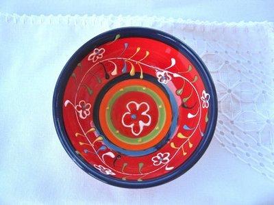 Spanish ceramic bowl ~ gypsy blue