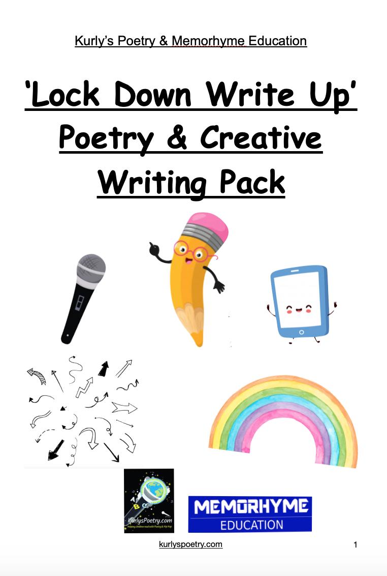 'Lock Down Write Up' Poetry Tasks - KS2/Early KS3
