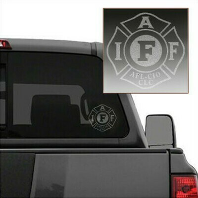 IAFF Etched Die-Cut Maltese Vehicle Decal