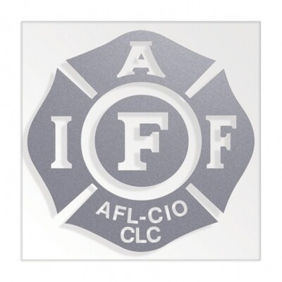 IAFF Solid Silver Die-Cut Maltese Vehicle Decal