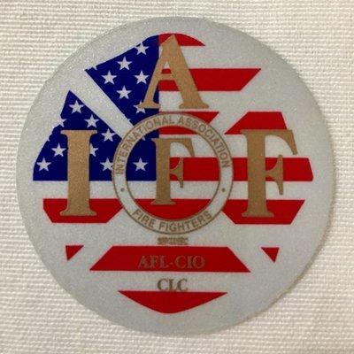 Helmet Sticker IAFF USA Gold