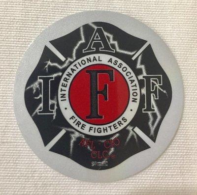 Helmet Sticker IAFF Lightning