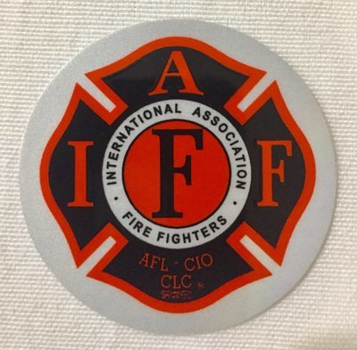 Helmet Sticker IAFF Black Orange