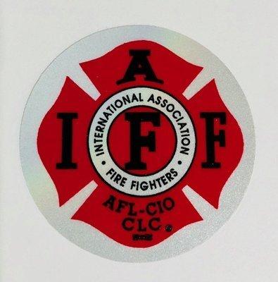 Helmet Sticker IAFF Traditional Red