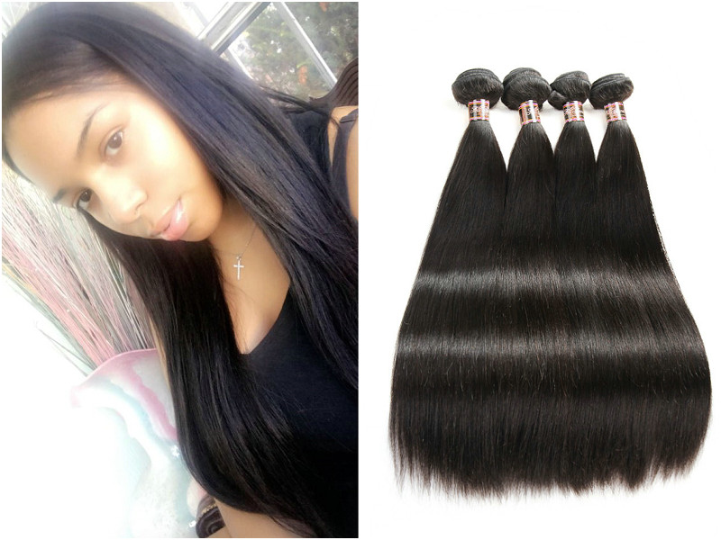 5PCS/LOT Virgin Hair Straight with Frontal Ear to Ear Lace Transparent Lace Frontal 13x4 With Bundles Deals