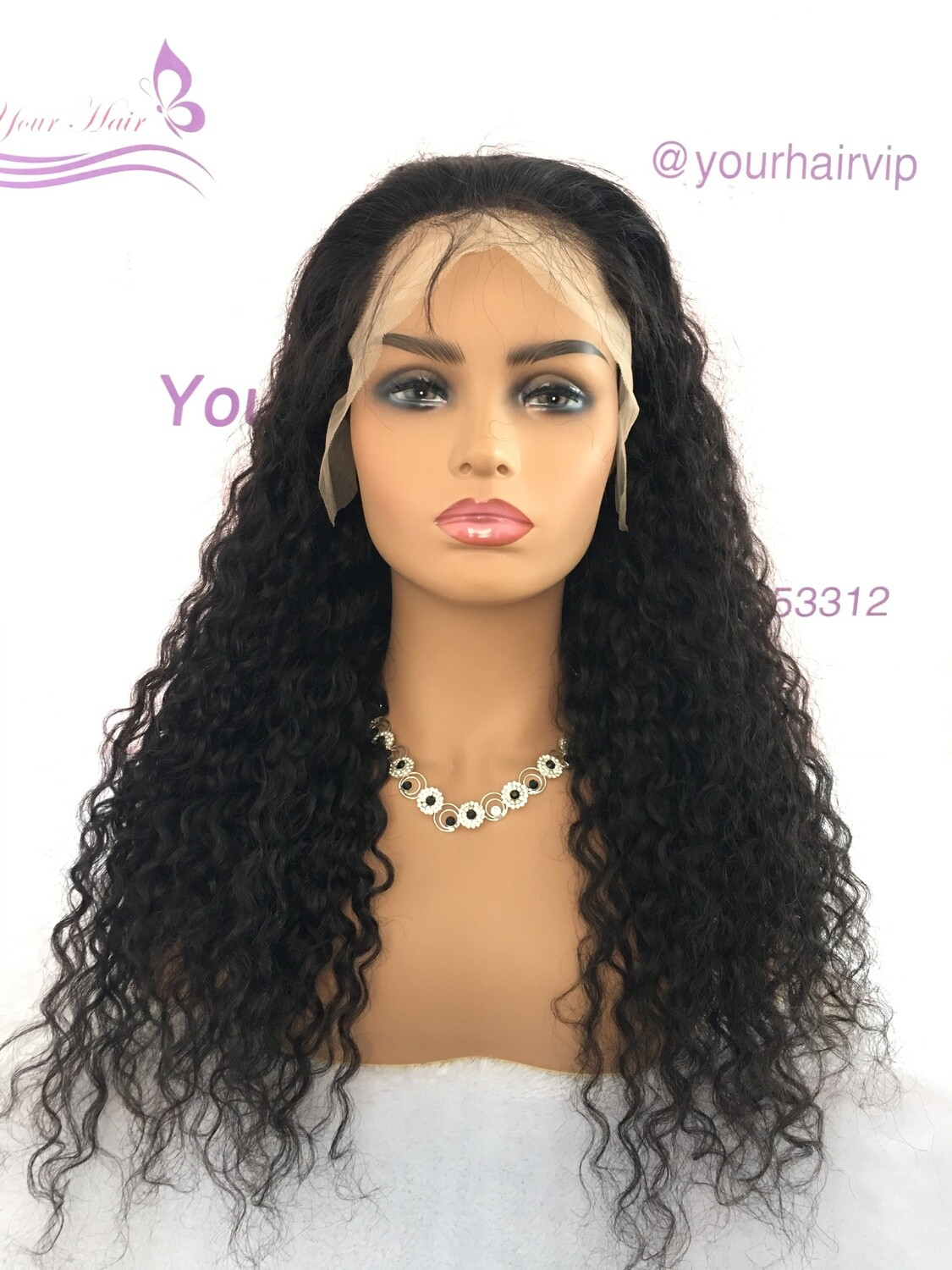 Transparent Lace Raw Curly Full Lace Frontal 13*6 Wig Human Hair  Can be dyed