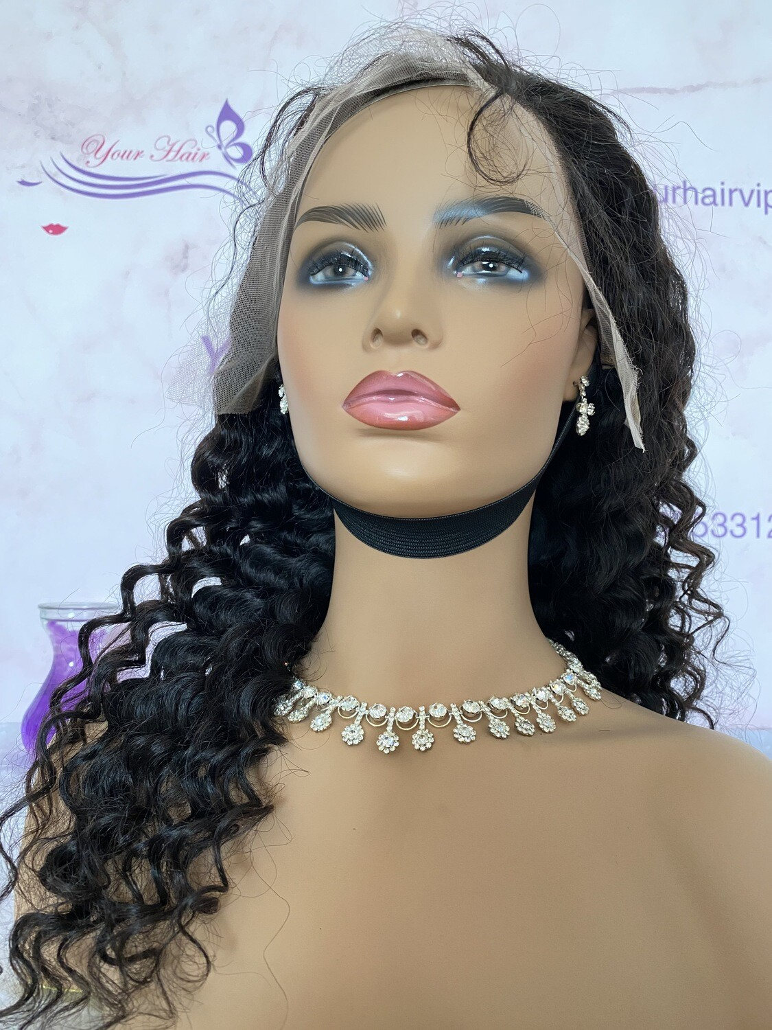 13x4 HD Lace Frontal Wig Curly 180 Density