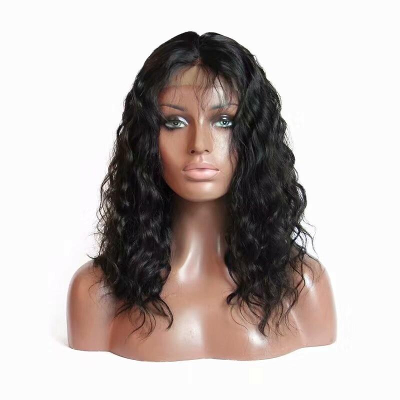 Water Wave Full Lace 13*4 Frontal Wig Human Hair with Baby Hair
