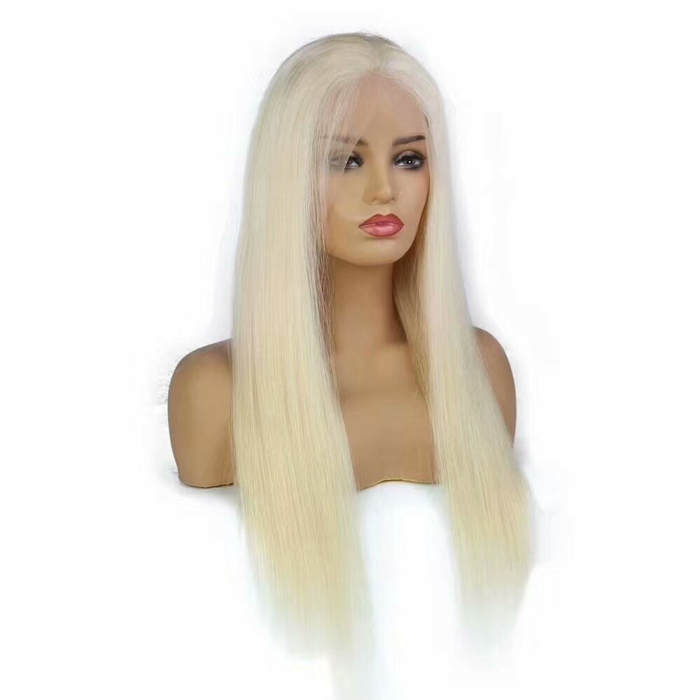 Blonde 13 x 6 Frontal Lace Wig Straight 130 Density Indian Virgin Hair