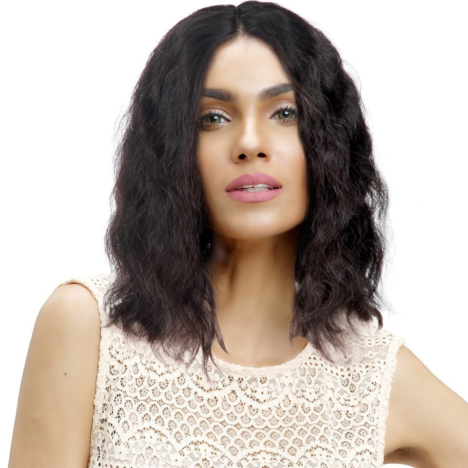 Natural wave Bob Full Lace Frontal 13*4  Wig Virgin Human Hair can be dyed