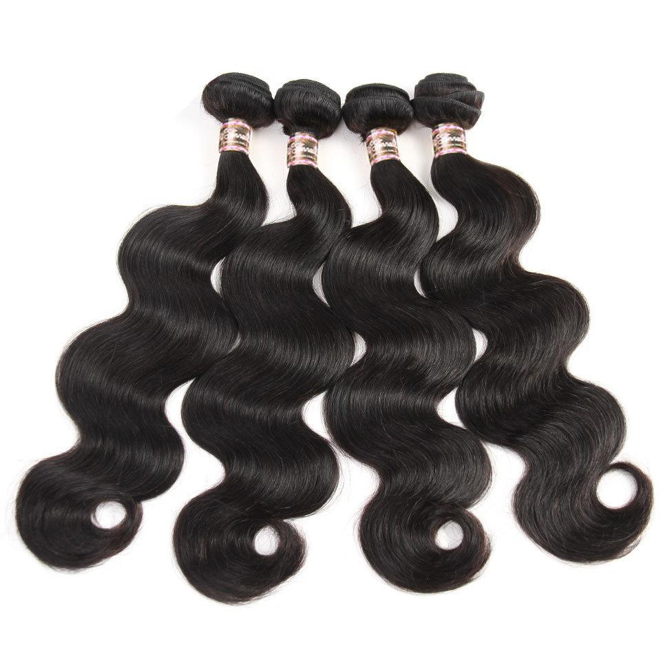 4 PCS Body Wave Unprocessed Human Hair Extension Bundles
