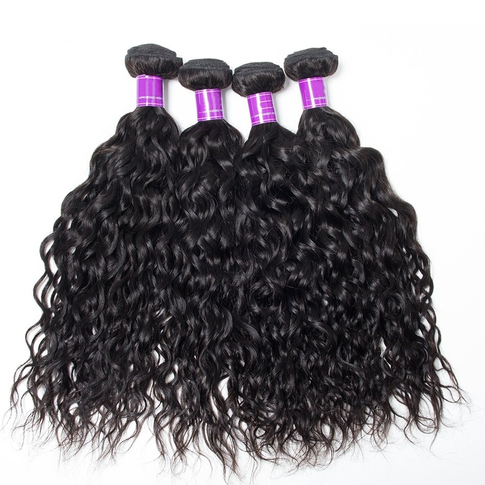 4 PCS Natural Wave Unprocessed Human Hair Extension Bundles