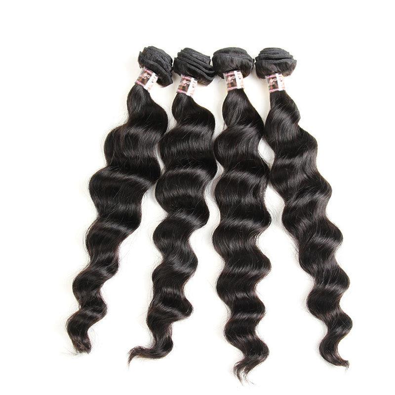 4 PCS  Loose Body Wave Unprocessed Human Hair Extension Bundles