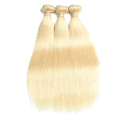 3PCS Straight Blonde Human Hair Bundles can be dyed into light color