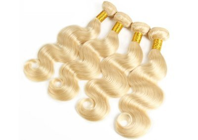 4PCS Body Wave Caucasian Blonde Human Hair Bundles can be dyed into light color