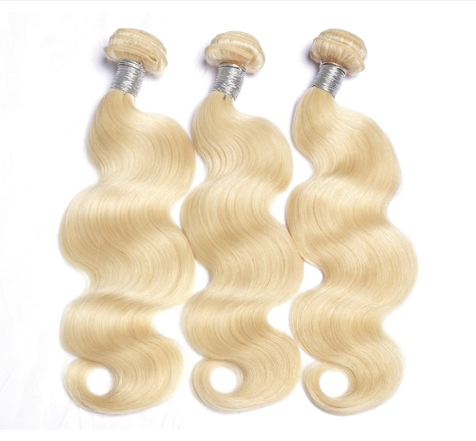3PCS Body Wave Blonde Human Hair Bundles can be dyed into light color